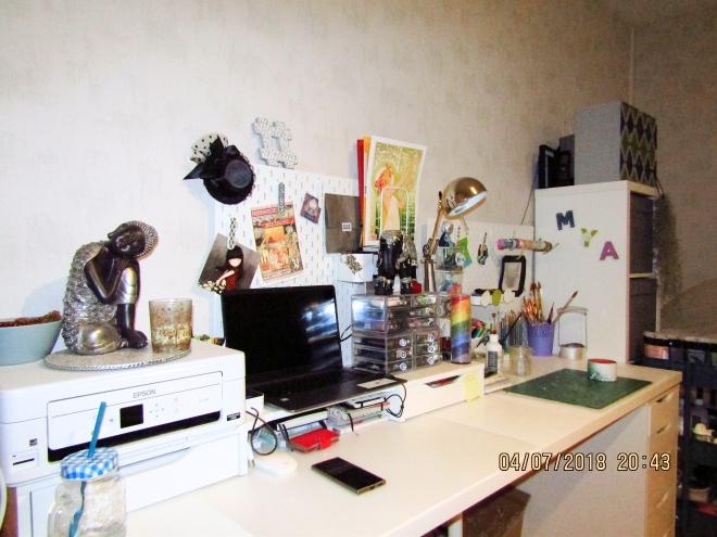 1- Photo de mon bureau-atelier après aménagement et décoration