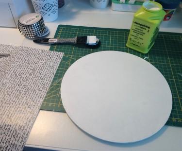 7.2 - mettre du vernis colle après que la peinture soit sèche